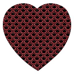 Scales2 Black Marble & Red Colored Pencil (r) Jigsaw Puzzle (heart) by trendistuff