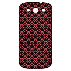 Scales2 Black Marble & Red Colored Pencil (r) Samsung Galaxy S3 S Iii Classic Hardshell Back Case by trendistuff