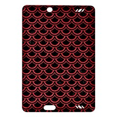 Scales2 Black Marble & Red Colored Pencil (r) Amazon Kindle Fire Hd (2013) Hardshell Case by trendistuff