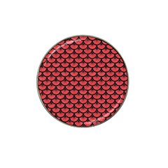 Scales3 Black Marble & Red Colored Pencil Hat Clip Ball Marker (10 Pack) by trendistuff
