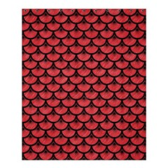 Scales3 Black Marble & Red Colored Pencil Shower Curtain 60  X 72  (medium)  by trendistuff