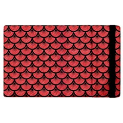 Scales3 Black Marble & Red Colored Pencil Apple Ipad 2 Flip Case by trendistuff