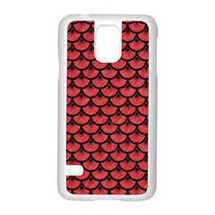 Scales3 Black Marble & Red Colored Pencil Samsung Galaxy S5 Case (white) by trendistuff