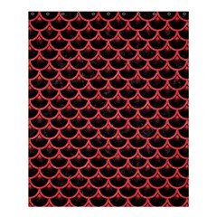 Scales3 Black Marble & Red Colored Pencil (r) Shower Curtain 60  X 72  (medium)  by trendistuff