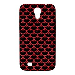 Scales3 Black Marble & Red Colored Pencil (r) Samsung Galaxy Mega 6 3  I9200 Hardshell Case by trendistuff