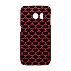 Scales3 Black Marble & Red Colored Pencil (r) Galaxy S6 Edge by trendistuff