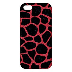 Skin1 Black Marble & Red Colored Pencil Apple Iphone 5 Premium Hardshell Case by trendistuff