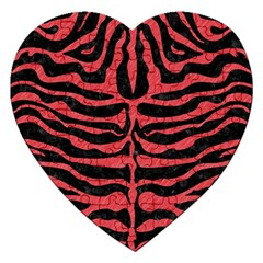 Skin2 Black Marble & Red Colored Pencil (r) Jigsaw Puzzle (heart) by trendistuff