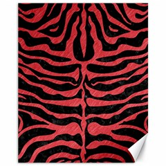 Skin2 Black Marble & Red Colored Pencil (r) Canvas 11  X 14   by trendistuff