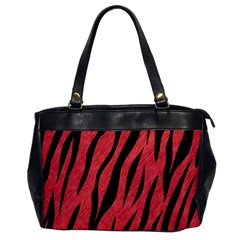 Skin3 Black Marble & Red Colored Pencil Office Handbags by trendistuff
