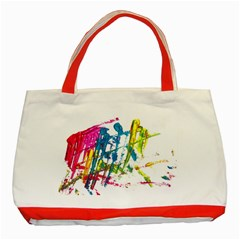 No 128 Classic Tote Bag (red) by AdisaArtDesign