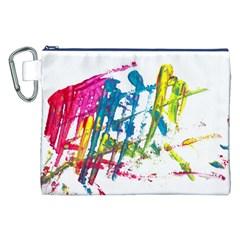 No 128 Canvas Cosmetic Bag (xxl) by AdisaArtDesign