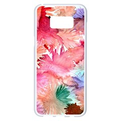 No Samsung Galaxy S8 Plus White Seamless Case by AdisaArtDesign
