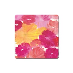 No 136 Square Magnet by AdisaArtDesign