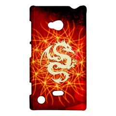 Wonderful Golden Dragon On Red Vintage Background Nokia Lumia 720 by FantasyWorld7