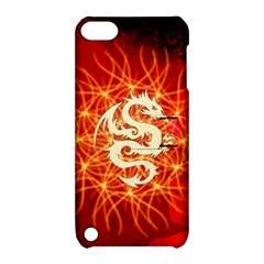 Wonderful Golden Dragon On Red Vintage Background Apple Ipod Touch 5 Hardshell Case With Stand by FantasyWorld7