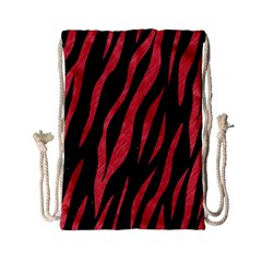 Skin3 Black Marble & Red Colored Pencil (r) Drawstring Bag (small) by trendistuff