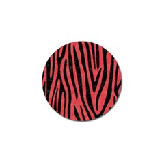 Skin4 Black Marble & Red Colored Pencil (r) Golf Ball Marker (10 Pack) by trendistuff