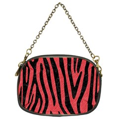 Skin4 Black Marble & Red Colored Pencil (r) Chain Purses (one Side)  by trendistuff