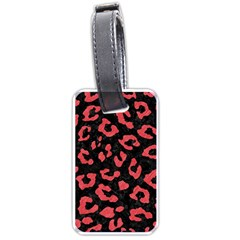 Skin5 Black Marble & Red Colored Pencil Luggage Tags (two Sides) by trendistuff