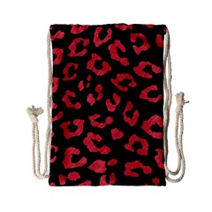 Skin5 Black Marble & Red Colored Pencil Drawstring Bag (small) by trendistuff