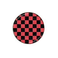 Square1 Black Marble & Red Colored Pencil Hat Clip Ball Marker (4 Pack) by trendistuff