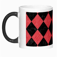 Square2 Black Marble & Red Colored Pencil Morph Mugs by trendistuff
