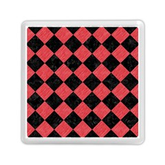 Square2 Black Marble & Red Colored Pencil Memory Card Reader (square)  by trendistuff