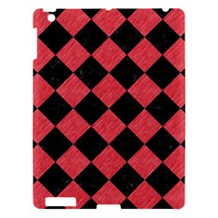 Square2 Black Marble & Red Colored Pencil Apple Ipad 3/4 Hardshell Case by trendistuff