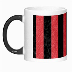 Stripes1 Black Marble & Red Colored Pencil Morph Mugs by trendistuff