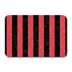 Stripes1 Black Marble & Red Colored Pencil Plate Mats by trendistuff