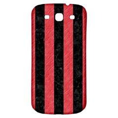 Stripes1 Black Marble & Red Colored Pencil Samsung Galaxy S3 S Iii Classic Hardshell Back Case by trendistuff