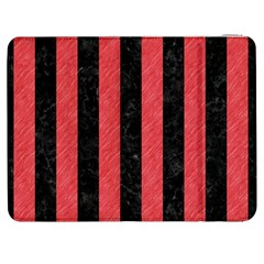Stripes1 Black Marble & Red Colored Pencil Samsung Galaxy Tab 7  P1000 Flip Case