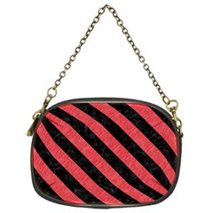 Stripes3 Black Marble & Red Colored Pencil Chain Purses (one Side)  by trendistuff