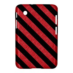 Stripes3 Black Marble & Red Colored Pencil Samsung Galaxy Tab 2 (7 ) P3100 Hardshell Case  by trendistuff