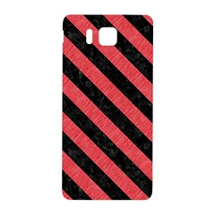Stripes3 Black Marble & Red Colored Pencil Samsung Galaxy Alpha Hardshell Back Case by trendistuff