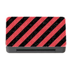 Stripes3 Black Marble & Red Colored Pencil (r) Memory Card Reader With Cf by trendistuff