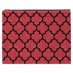 Tile1 Black Marble & Red Colored Pencil Cosmetic Bag (xxxl)  by trendistuff
