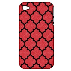 Tile1 Black Marble & Red Colored Pencil Apple Iphone 4/4s Hardshell Case (pc+silicone) by trendistuff