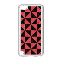 Triangle1 Black Marble & Red Colored Pencil Apple Ipod Touch 5 Case (white) by trendistuff