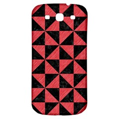 Triangle1 Black Marble & Red Colored Pencil Samsung Galaxy S3 S Iii Classic Hardshell Back Case