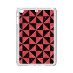 Triangle1 Black Marble & Red Colored Pencil Ipad Mini 2 Enamel Coated Cases