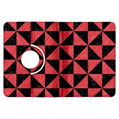 Triangle1 Black Marble & Red Colored Pencil Kindle Fire Hdx Flip 360 Case by trendistuff