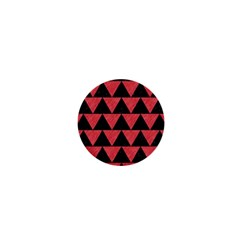 Triangle2 Black Marble & Red Colored Pencil 1  Mini Buttons