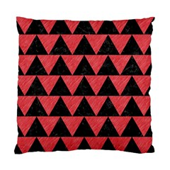 Triangle2 Black Marble & Red Colored Pencil Standard Cushion Case (two Sides) by trendistuff