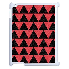 Triangle2 Black Marble & Red Colored Pencil Apple Ipad 2 Case (white) by trendistuff