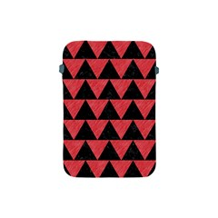 Triangle2 Black Marble & Red Colored Pencil Apple Ipad Mini Protective Soft Cases by trendistuff