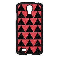 Triangle2 Black Marble & Red Colored Pencil Samsung Galaxy S4 I9500/ I9505 Case (black) by trendistuff