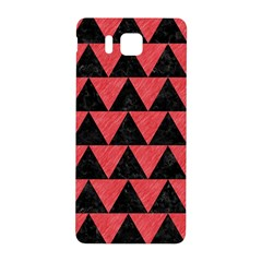 Triangle2 Black Marble & Red Colored Pencil Samsung Galaxy Alpha Hardshell Back Case by trendistuff