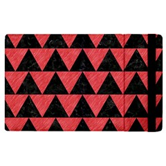 Triangle2 Black Marble & Red Colored Pencil Apple Ipad Pro 9 7   Flip Case by trendistuff